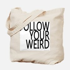 follow-your-weir-block-black Tote Bag