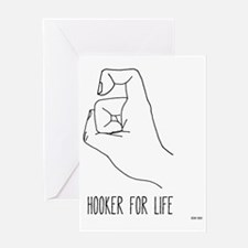 hooker for life tote Greeting Card