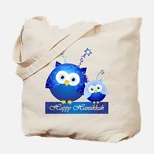 Happy Hanukkah Owls Tote Bag