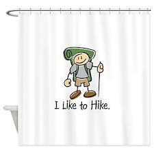I Like to Hike Boy - Green2 Shower Curtain