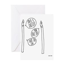 knit you tote Greeting Card