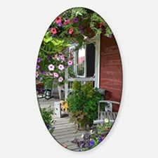 Country Porch Sticker (Oval)