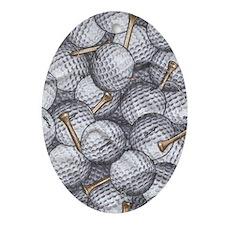 golfballs tees ipad Oval Ornament