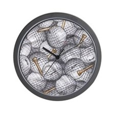 golfballs tees ipad Wall Clock