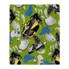 Tee Time golf bag golf clubs ipad Throw Blanket