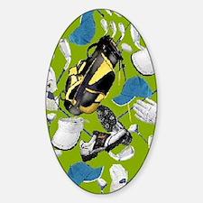Tee Time golf bag golf clubs ipad Sticker (Oval)