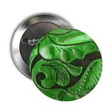 "green leaves 2.25"" Button"