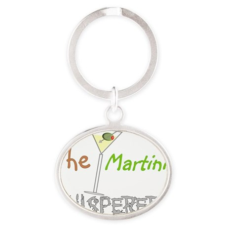 The Martini Whisperer Oval Keychain
