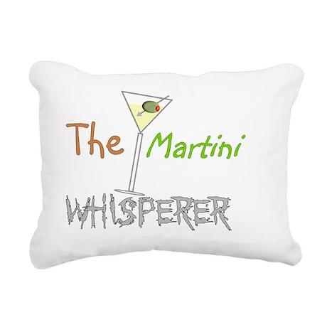 The Martini Whisperer Rectangular Canvas Pillow