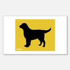 Retriever iPet Rectangle Decal