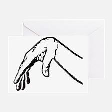 limp wrist outline Greeting Card