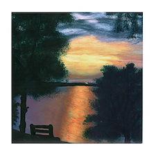 Mitiwanga sunset card Tile Coaster
