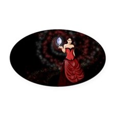 Mage Oval Car Magnet