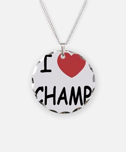 CHAMP Necklace Circle Charm