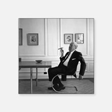 "Mies van der Rohe in chair Square Sticker 3"" x 3"""