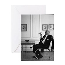Mies van der Rohe in chair Greeting Card