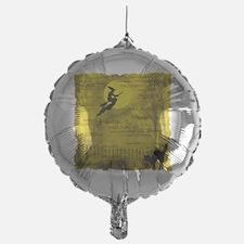 Halloweengold_sq_framed Balloon