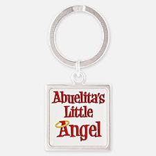 Abuelitas Little Angel Square Keychain