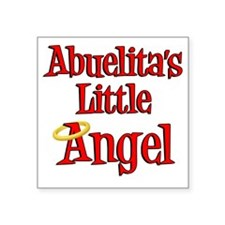 "Abuelitas Little Angel Square Sticker 3"" x 3"""