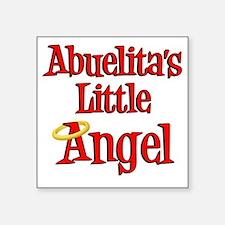 "Abuelitas Little Angel Square Sticker 3"" x 3"""