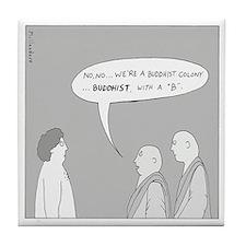 Buddhist Colony Tile Coaster