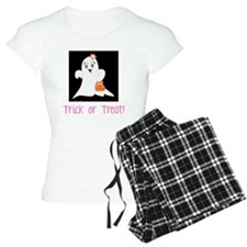 Pink Ghost Trick or Treat pajamas