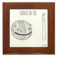 Hooked on you tote Framed Tile