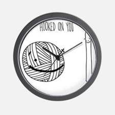 Hooked on you tote Wall Clock