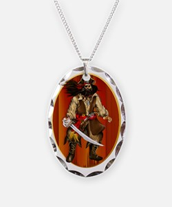 Talking Like A Pirate Oval Tra Necklace