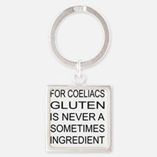 gluten sometimes food aus Square Keychain