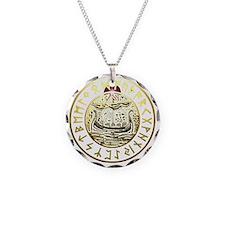rune ship shield. Necklace Circle Charm