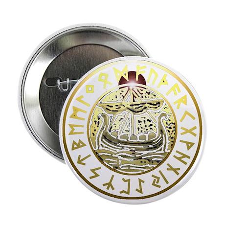 """rune ship shield. 2.25"""" Button"""