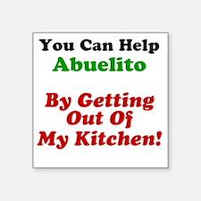 """Funny Abuelito Apron Square Sticker 3"""" x 3"""""""