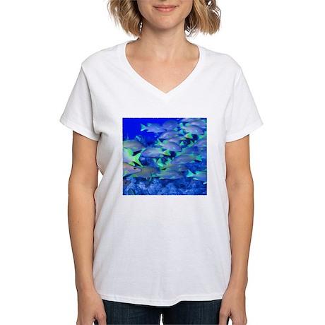 School Crossing Women's V-Neck T-Shirt