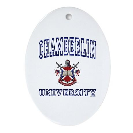 CHAMBERLIN University Oval Ornament