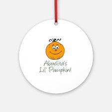 Abuelitas Little Pumpkin Round Ornament