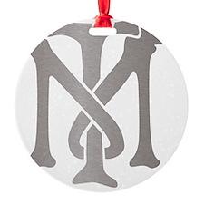 tony-montana-monogram-silver Ornament