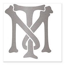 "tony-montana-monogram-si Square Car Magnet 3"" x 3"""