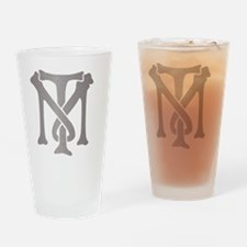 tony-montana-monogram-silver Drinking Glass