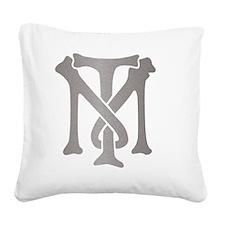 tony-montana-monogram-silver Square Canvas Pillow