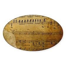 torn music coin purse Decal