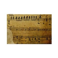 torn music coin purse Rectangle Magnet