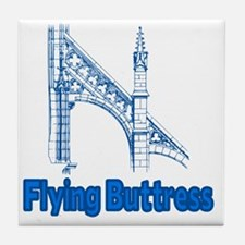 Flying Buttress Gothic Architecture Tile Coaster