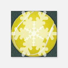 "tennisFlake Square Sticker 3"" x 3"""