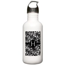 slider_monogram_zebra_ Water Bottle