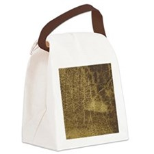 mens old leather Canvas Lunch Bag