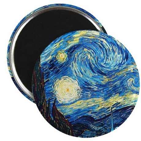 starry night wallet Magnet