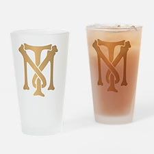 tony-montana-monogram-gold Drinking Glass