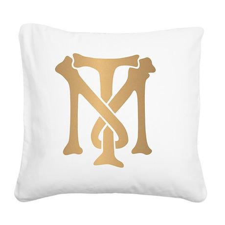 tony-montana-monogram-gold Square Canvas Pillow