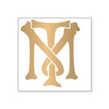"tony-montana-monogram-gold Square Sticker 3"" x 3"""